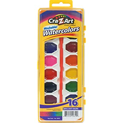 Cra-Z-art Washable Watercolors with Brush, 16 Count (10652): Office Products