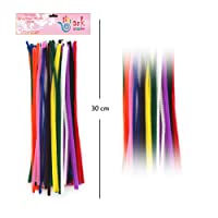 100 Multi Coloured Stem Chenille Stick Pipe Cleaner Cleaners 300mm x 4mm