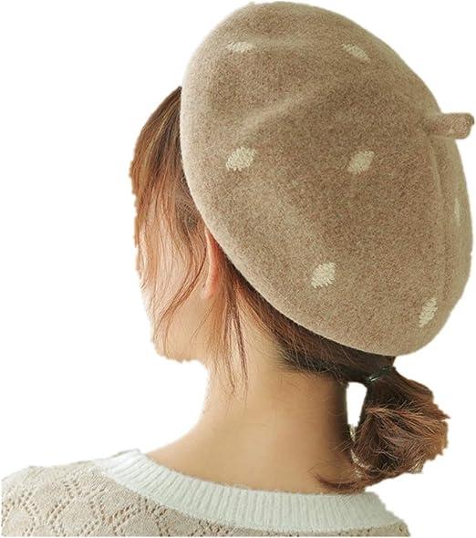 Sombrero de mujer pintor Mujer Francia Retro Gebei Lei Sombrero De ...