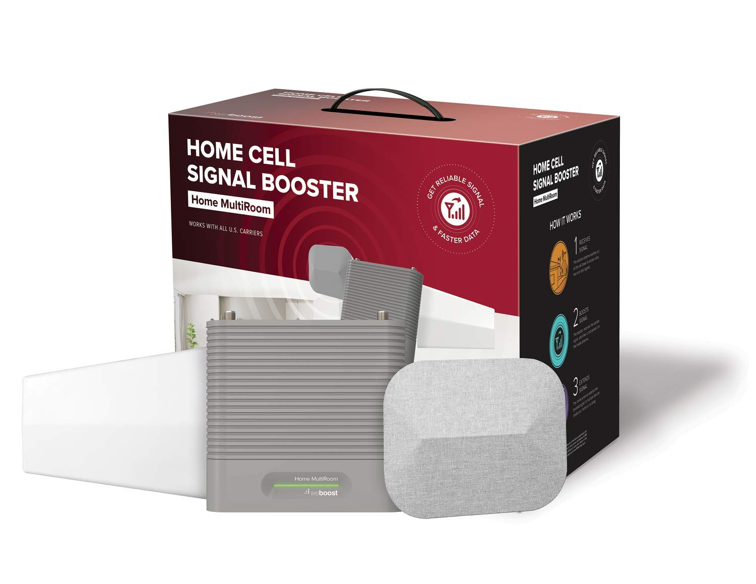 weBoost Home MultiRoom (470144) Cell Phone Signal Booster, Cell Signal Booster Kit for up to Three Large Rooms or 5,000 sq. ft. - FCC Approved by weBoost