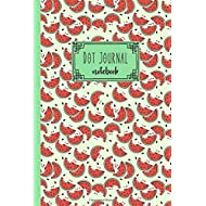 Dot Journal Notebook: Cute Watermelon Pattern Dot Grid 6x9 inch Notebook Bullet Paper for Journaling, Tracking, Organizing and Planning (120 pages)