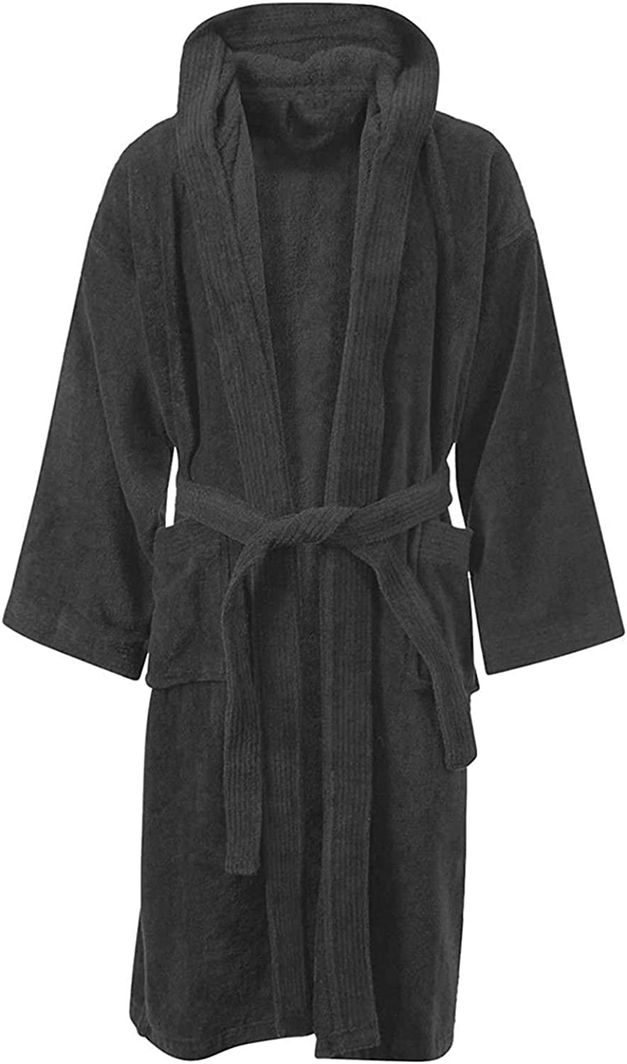 JD Linens Mens /& Ladies Bathrobe Nightwear Shawl Collar Dressing Gown 100/% Egyptian Cotton Terry Towelling Perfect for Gym Shower Spa