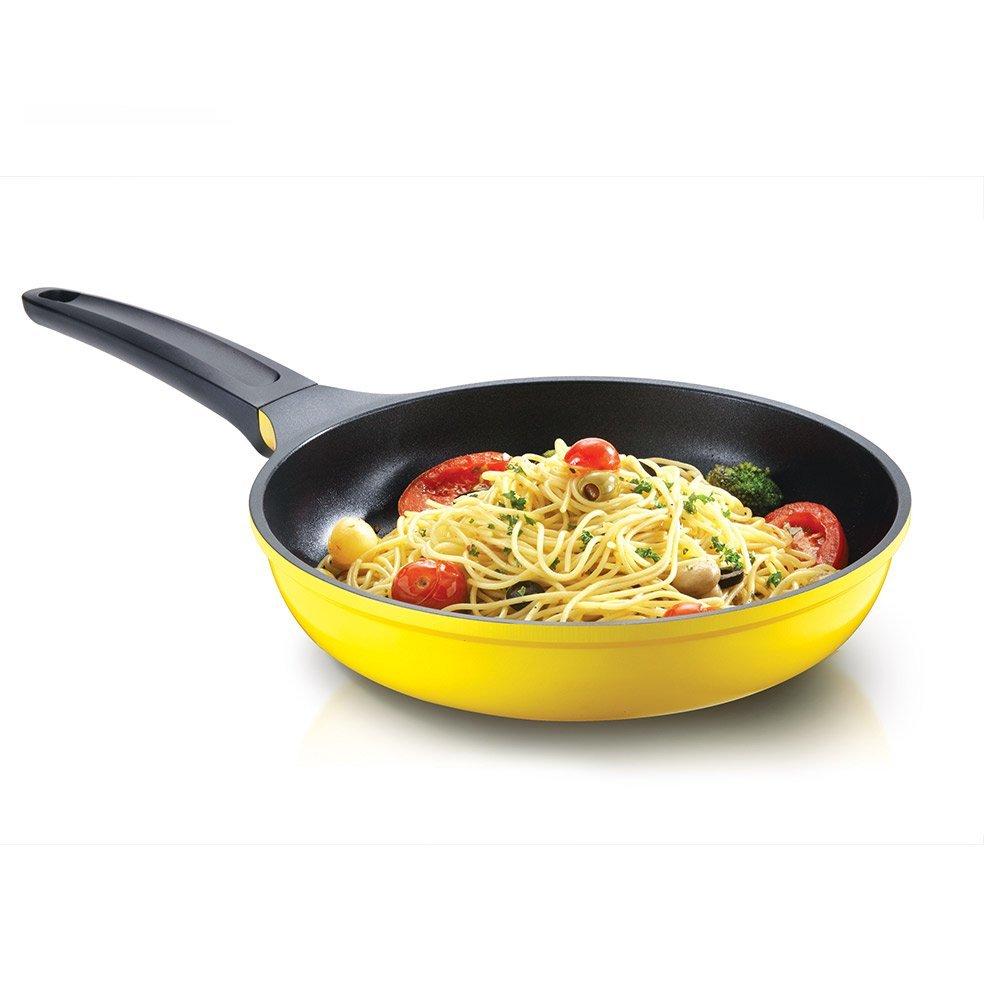 Darna Toscana 26cm Single pan - Cacerola (Single pan, Amarillo, Cerámico, 2,4 L, 26 cm, 900 g): Amazon.es: Hogar