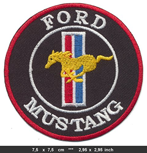 Embroidery Mustang (FORD MUSTANG Iron Sew On Cotton Patches Auto Sports Cars GT500 Classic Badge RSPS Embroidery n Decals)