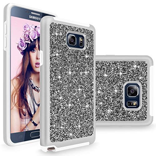 Slim Fit Hybrid Case for Samsung Note 5 (Silver) - 1