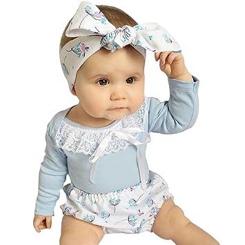 feiXIANG Conjunto de Ropa para bebés recién Nacidos Camiseta ...