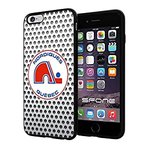 Quebec Nordiques Net NHL Logo WADE5303 iPhone 6+ 5.5 inch Case Protection Black Rubber Cover Protector