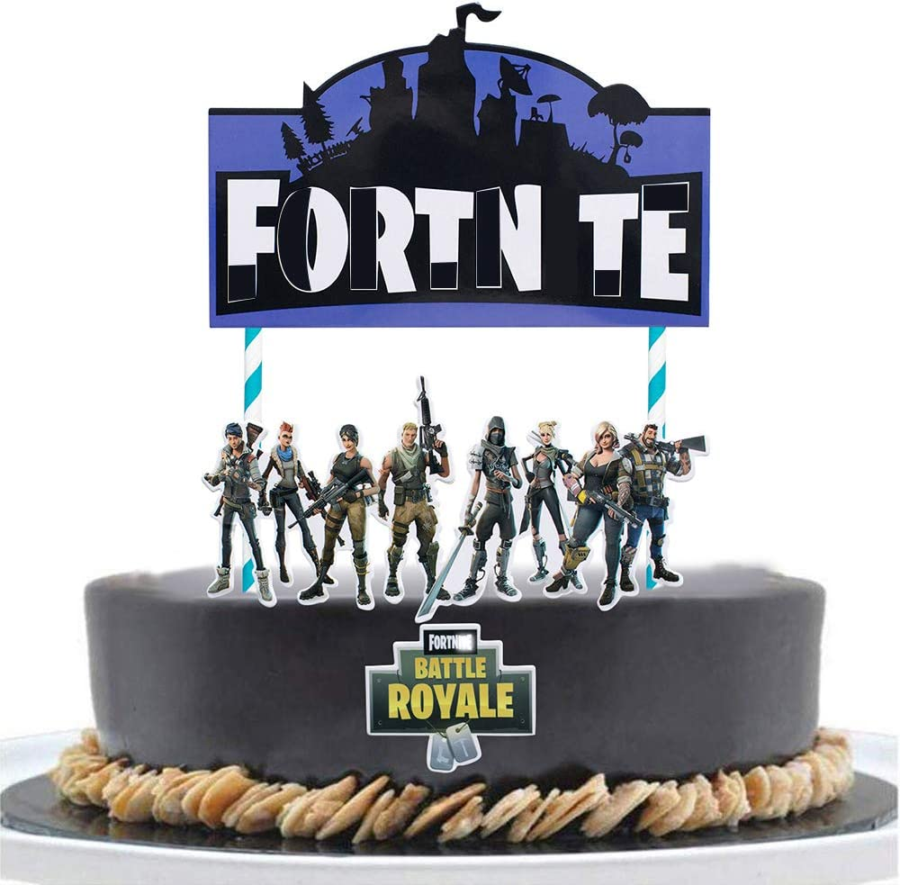 Autude Video Game Birthday Cake Topper - Birthday Party Cake Decorations Party Supplies