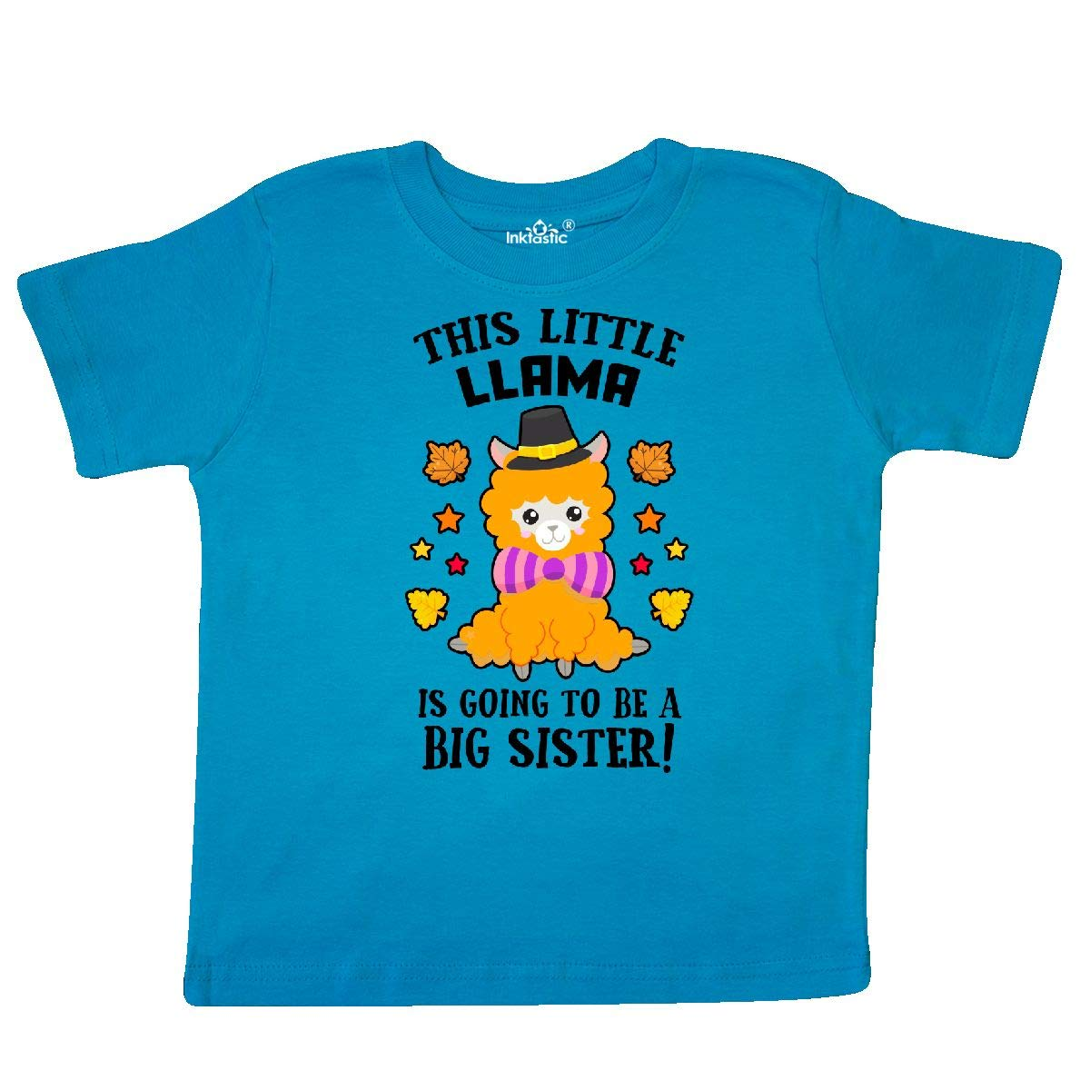 inktastic Thanksgiving This Little Llama is Going to Be a Big Toddler T-Shirt