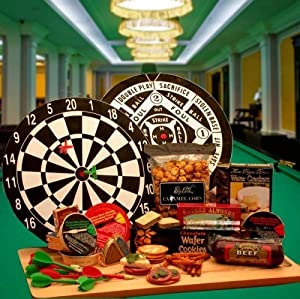 Dartboard Gift Set for Dart Players! Gourmet Snacks and Dartboard Birthday...
