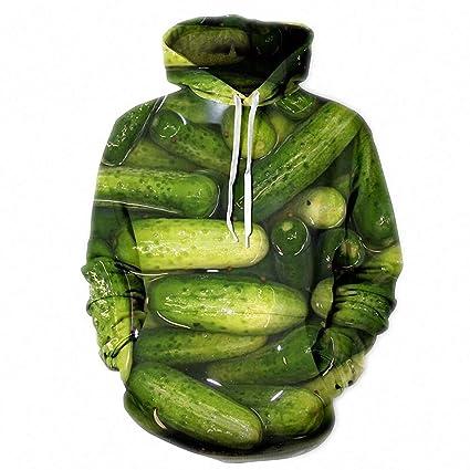 Dawery Unisex 3D Printed Hoodies Pullover Hooded Sweatshirt Long Sleeve Hoodie Sweatshirt Autumn Winter Cucumber 3D