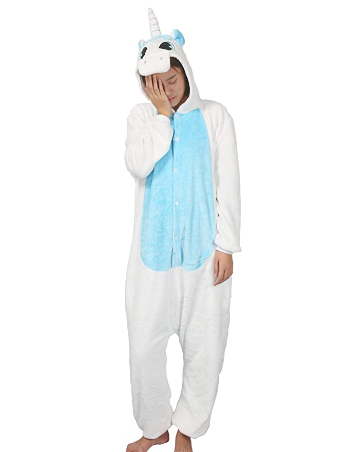 496a545110 PIN® Unisex Costume Animal Cosplay Onesie Adult Pajamas Anime Cartoon  Sleepwear (S