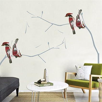 Disegno della Mano di Stile Cinese Fiori E Uccelli Parete ...