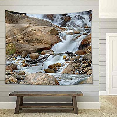 Alluvial Fan Area in Rocky Mountain National Park Fabric Wall, Classic Artwork, Magnificent Artistry