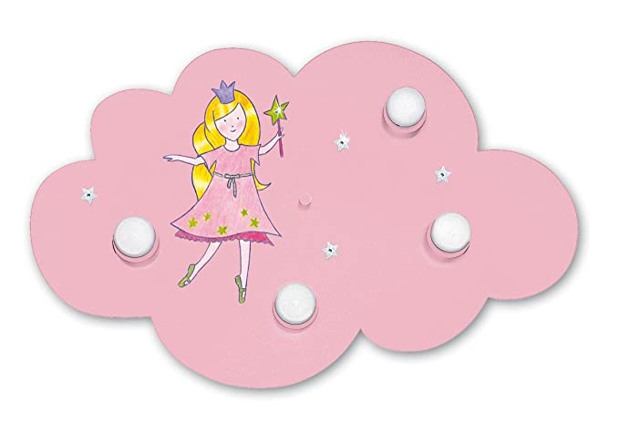 Lampadario Gocce Rosa : Lampada da soffitto nuvola principessa rosa luci amazon
