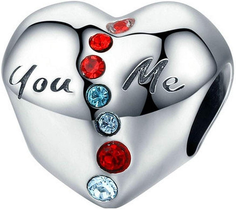 Evereena Silver Beads Bracelet for Girls Sister Love Heart Gift Charm Womens Jewelry