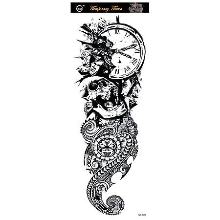 tzxdbh 3pcs- Brazo Completo Tatuaje Impermeable Tatuaje Temporal ...