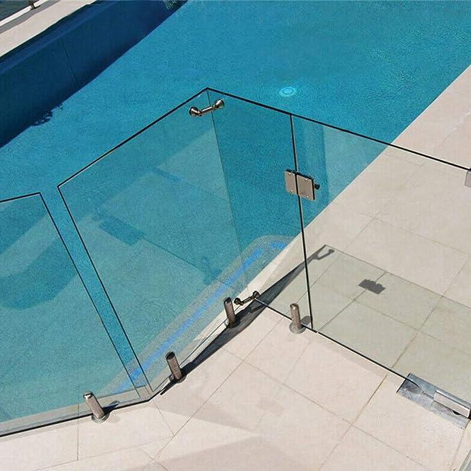 No nulo poste de cristal de balaustrada piscina balc/ón redonda. Tama/ño libre escaleras YYWJ Abrazadera de barandilla de acero inoxidable con soporte de vidrio para piso