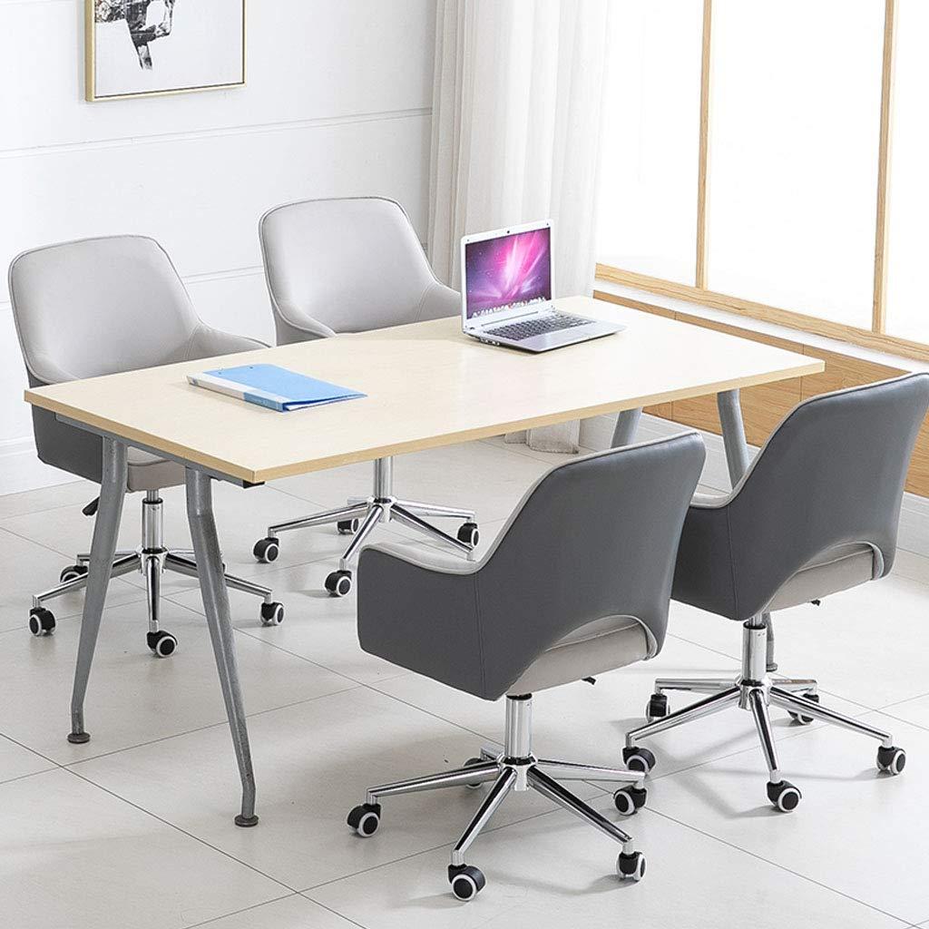 Svängbar stol läder dator stol konferensrum uppgift skrivbord stolar studera med svängbara underlägg justerbar höjd ryggstöd och armstöd integrering gula snygga möbler Grå