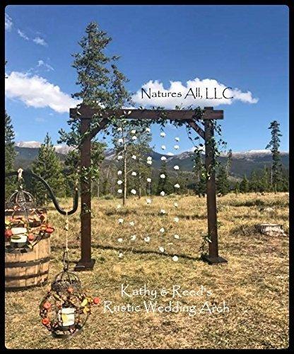 Wedding Arch!Dark Walnut! by Natures All, LLC