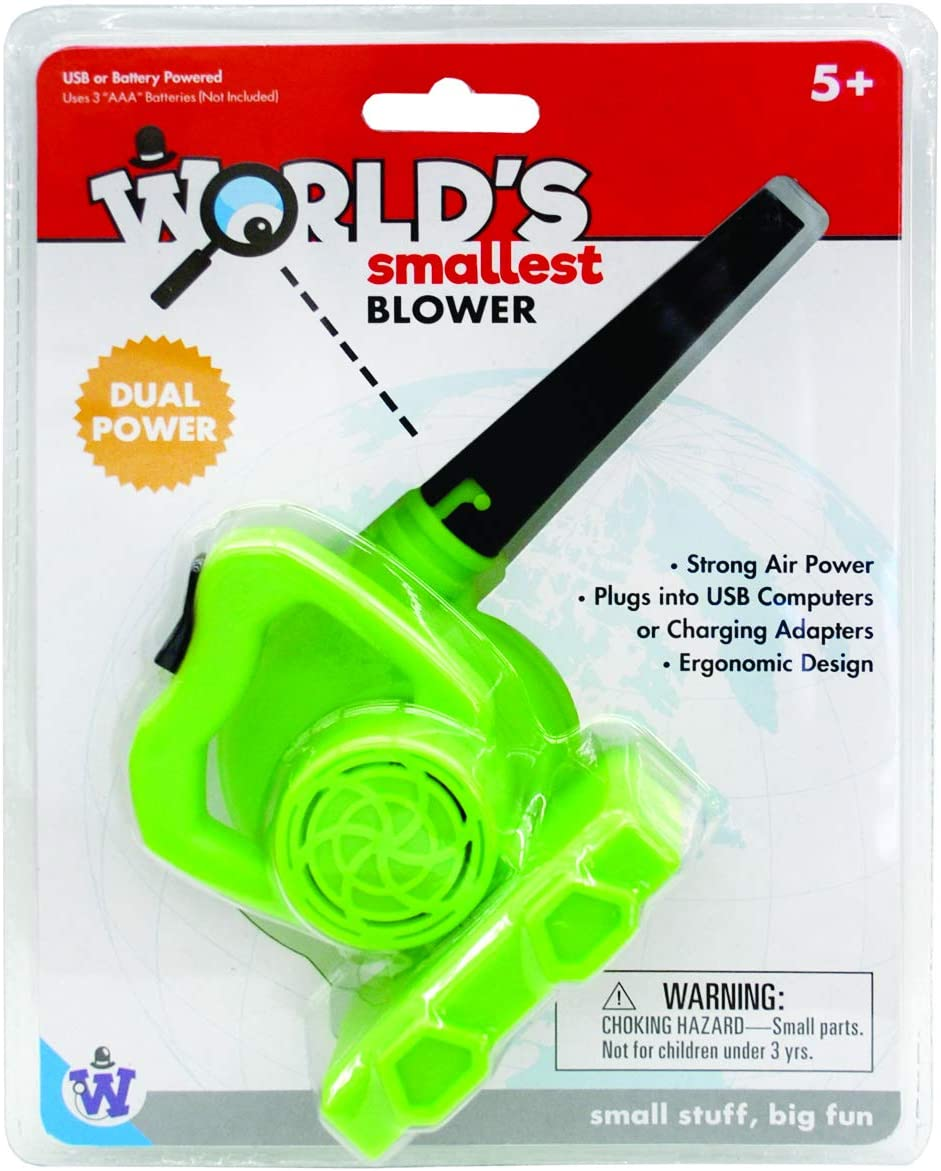 Westminster, Inc. World's Smallest Blower - Real, Working, Tiny, Dual Powered Leaf Blower