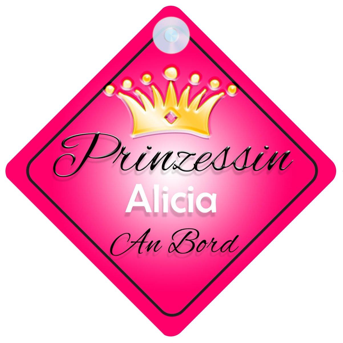 Prinzessin Alicia Baby / Kind an Bord Mä dchen Auto-Zeichen (Prinzessin001) Quality Goods Ltd