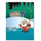 Amazon fly fishing birthday card by charles sainsbury plaice fly fishing santa christmas card 18 cards and envelopes bookmarktalkfo Gallery