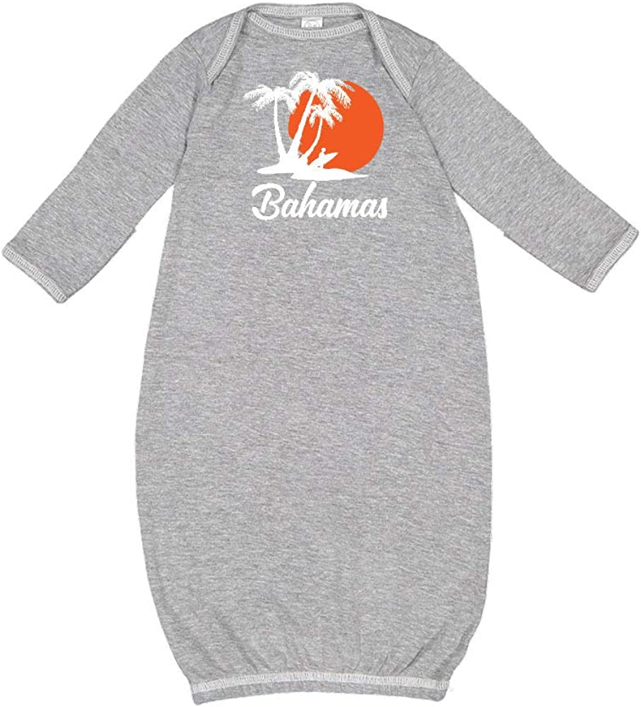 Bahamas Beach Sunset Surfer Baby Cotton Sleeper Gown