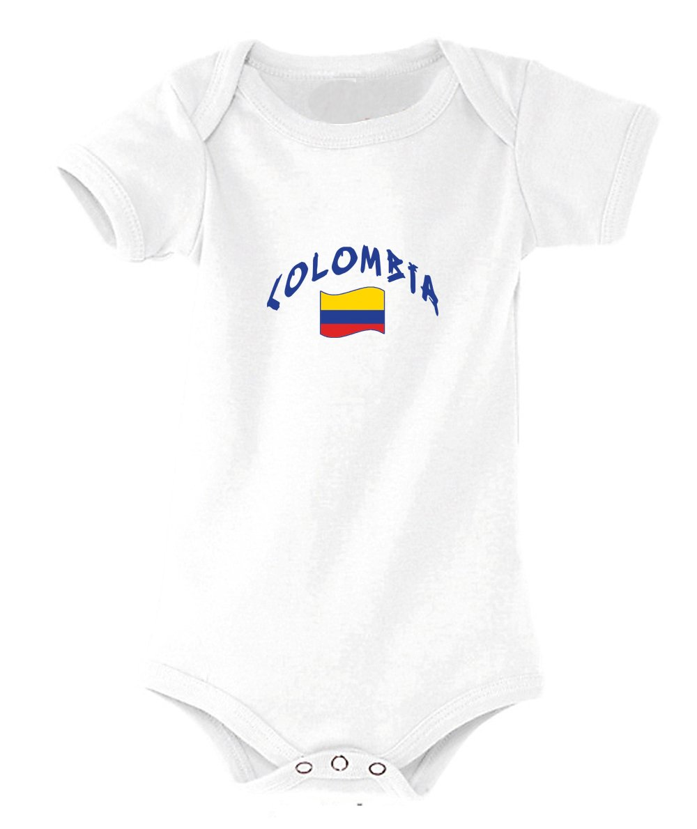 Supportershop Body bébé Colombie Blanc Mixte, FR : XL (Taille Fabricant : 18-23 Mois) SUPQM|#Supportershop 5060542522182