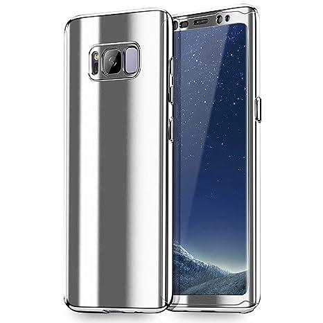 NALIA Funda Integral Compatible con Samsung Galaxy S8 Plus, Carcasa Completa con Screen Protector, Ultra-Fina Cubierta Móvil Protectora Cover Delgado ...