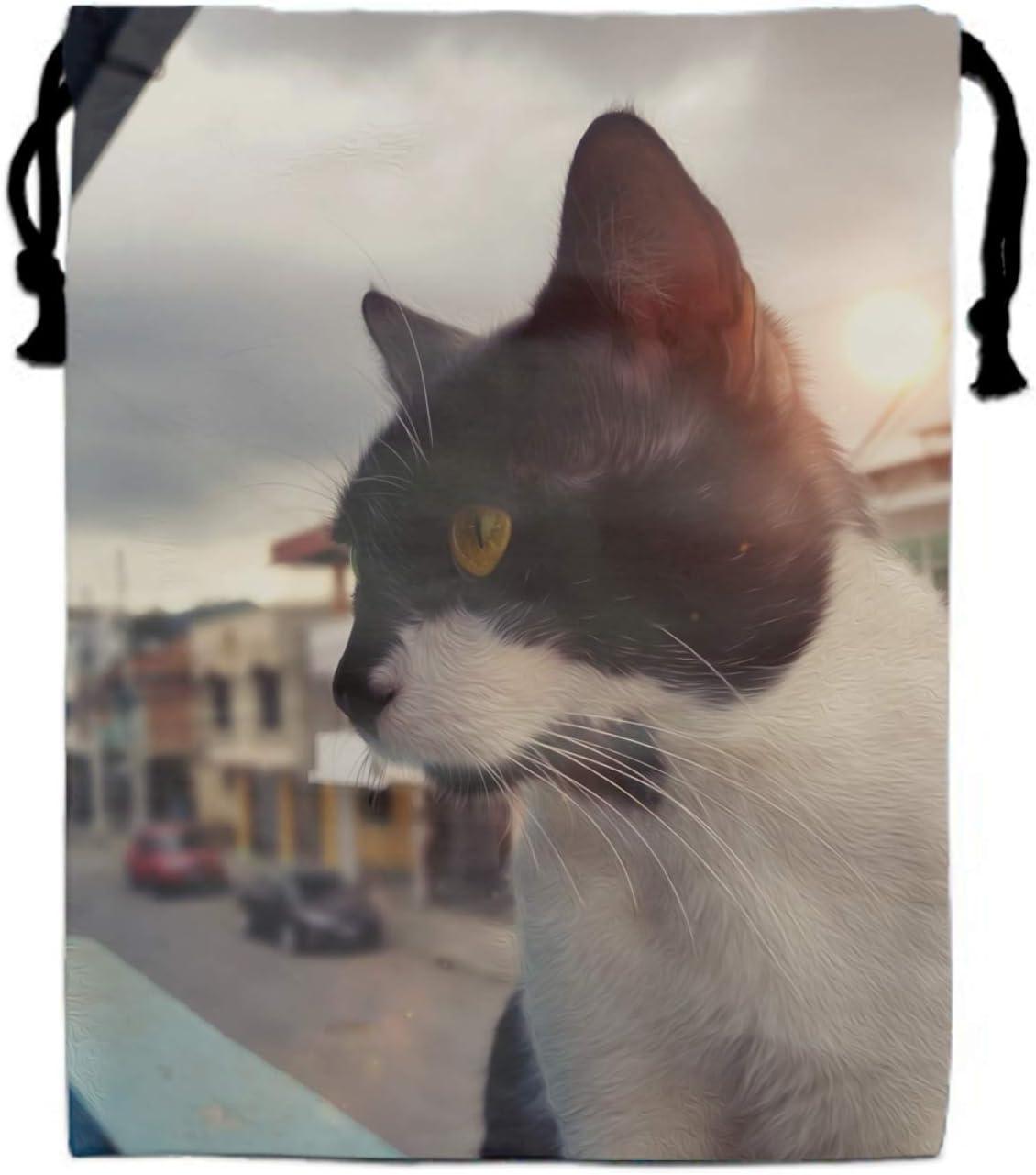 N/A NA Mochila con cordón para Gatos, Animales, Ojos Amarillos ...