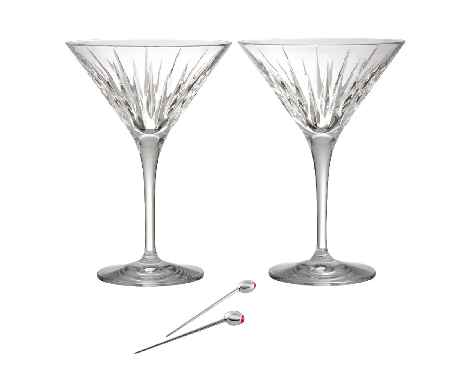 Reed & Barton Soho Martini Set of 2 with Olive Picks