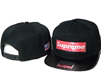 bba596a1018 Image Unavailable. Image not available for. Colour  Fashion Unisex Blue Supreme  Hat ...