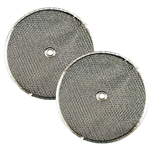 2 PACK Air Filter Factory 9-1/2 Round x 3/32 With Center Hole Range Hood Aluminum Grease Filters ()