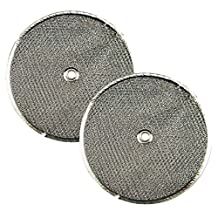 2 PACK 9-1/2 Round x 3/32 With Center Hole Range Hood Aluminum Grease Filters AFF9.5-R by Air Filter Factory