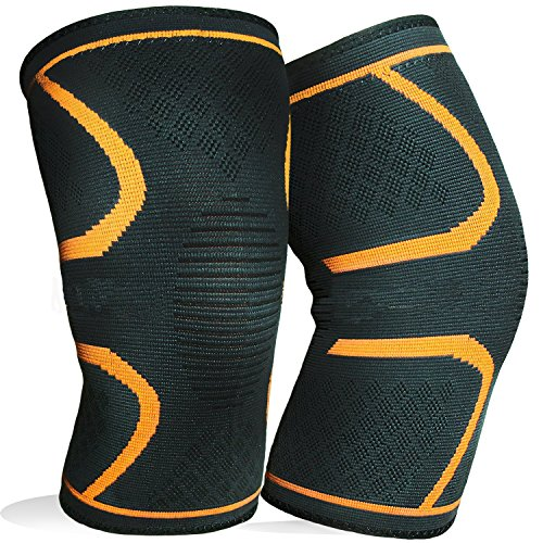Bashley Knee Brace Compression Sleeve Leg Socks For Men And Women Support For Running,Jogging,Sports,Joint Pain Relief And Injury Recovery by Bashley