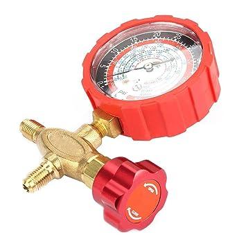 cm/² Adatto per refrigeranti R404a R22 R410 R134A manometro e valvola manometro aria condizionata 800psi 55kgf Manometro collettore