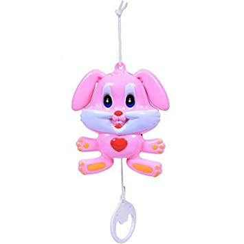 Shreeja Collections Cradle Hanging Rabbit Music Bell Toy for Babies Hanging Toys for Infants