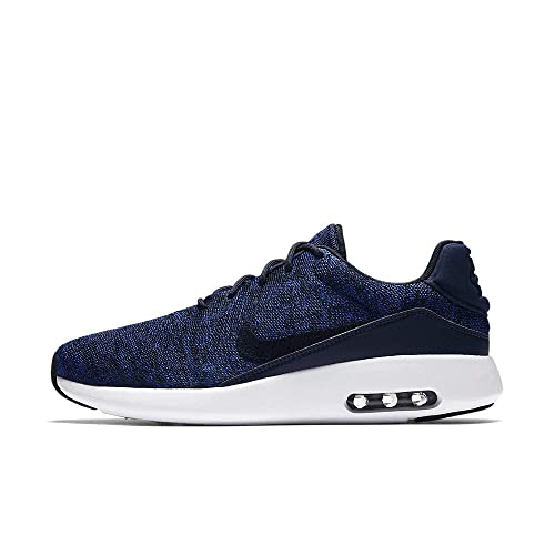 Nike Mens Air Max Modern Flyknit Fabric Low Top Lace Up Running, Blue, Size 10.5