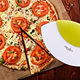 Forbake Stainless Steel Pizza Cutter And Server - Slice and Serve Pizza & Pie & Cake & Pasta etc... Best for Precision Cutting, Dough, Food, Convenient Kitchen Tool and Dishwasher Safe
