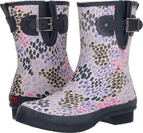 Chooka Tillie Mid Navy Matte Womens Rain Boots Size 6M