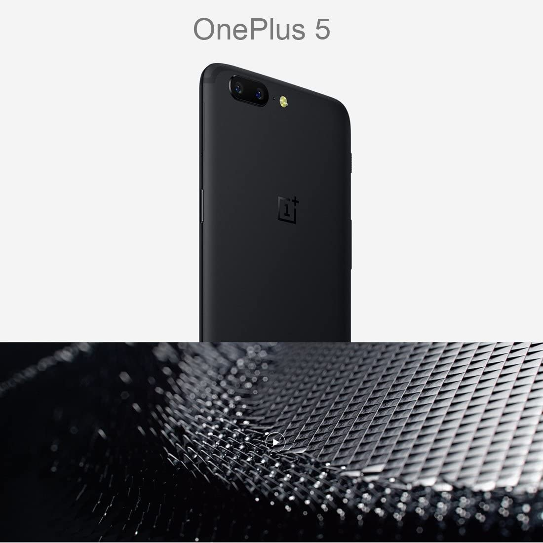 Snapdragon 835 Octa Core up to 2.45GHz WCDMA /& GSM /& FDD-LTE OnePlus 5 8GB+128GB 5.5 Inch 2.5D H2OS 3.5 Android Nougat Grey