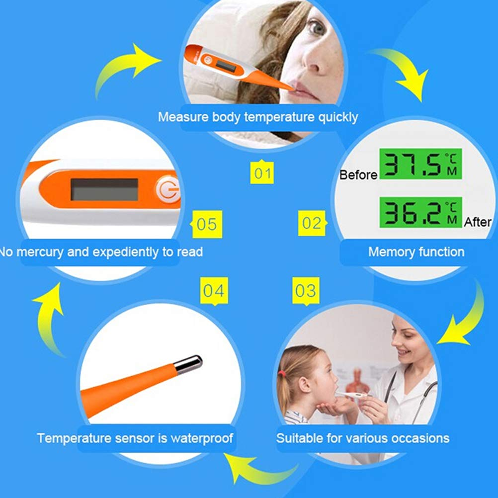 Digital Thermometer LCD Display Electronic Digital Thermometer for Adults and Children Fast Readings Body Thermometer Professional Precision Thermometer