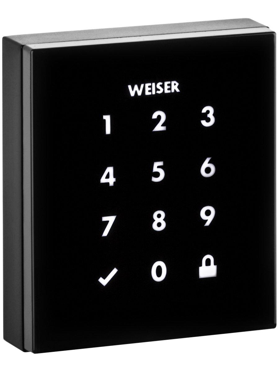 Weiser Obsidian Keyless Touchscreen Door Lock, Electronic Deadbolt, Satin Nickel (GED2300 OBN15)