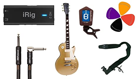 Guitar Recording Pack Color iRig HD2/Guitarra eléctrica tipo Les Paul/ accesorios