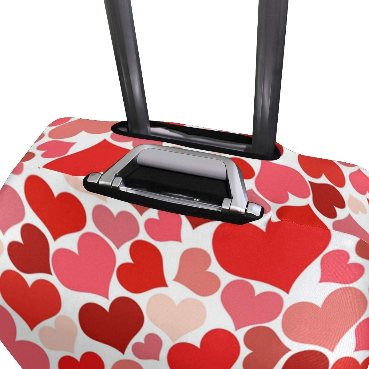 Cute 3D Abstract Heart Pattern Pattern Luggage Protector Travel Luggage Cover Trolley Case Protective Cover Fits 18-32 Inch