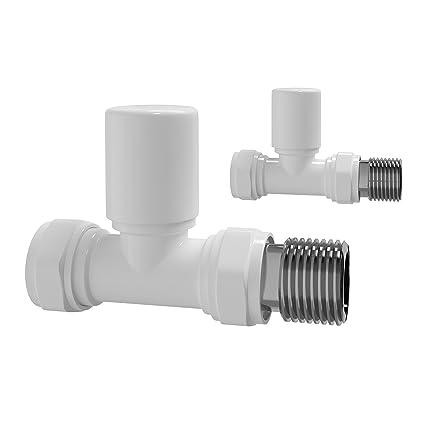 Soak Válvulas blancas de 15mm para radiador de calefacción central