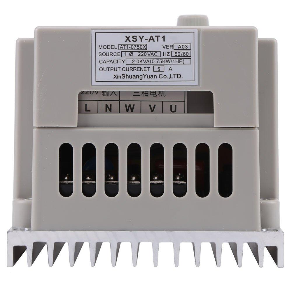 Variateur de Fr/équence VFD AC 220V 0.75KW Contr/ôleur de Vitesse VFD Phrase Unique de lOnduleur