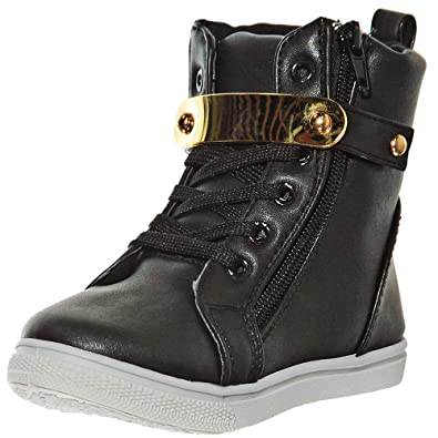 d505f0da372 shoewhatever Girls' Fashion High-Top Lace-up Ankle Sneakers/Booties