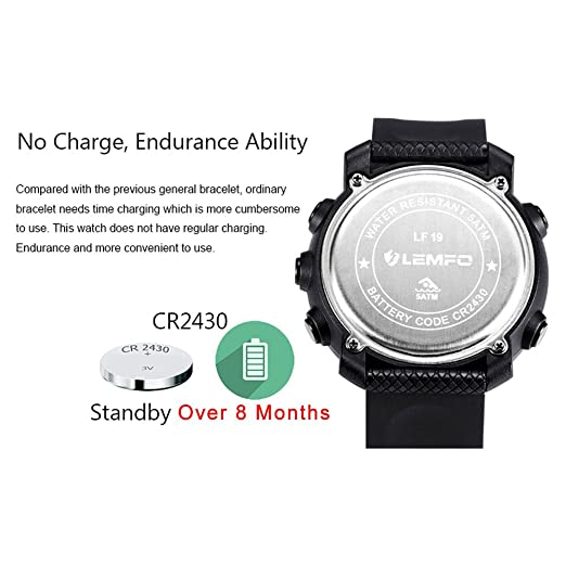 919c0a95627 Amazon.com  LEMFO LF19 Digital Men s Smart Watch IP68 Waterproof 5ATM Call  SMS Notification Sport Smartwatch with LED Backlight  Health   Personal Care
